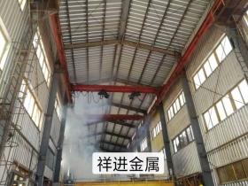 青岛钢结构厂房,镀锌车间,换防腐,隔热,隔音,屋面瓦一年后效果图瓦