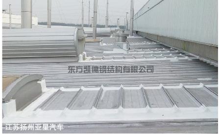 江苏扬州亚星汽车钢结构屋面防腐