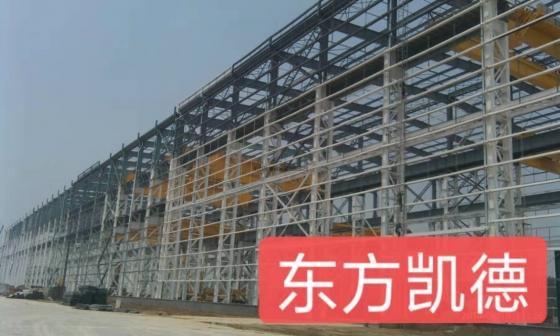 潍坊钢结构施工现场照片